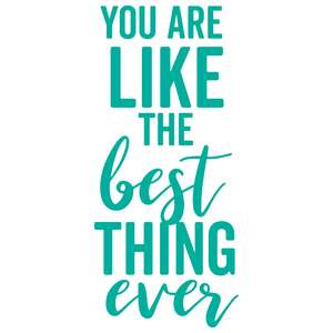 you are like the best thing ever
