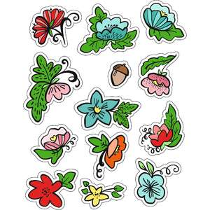ml flowers and leaves stickers