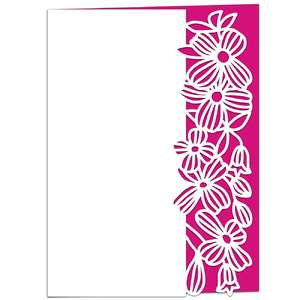 clematis floral lace edged card