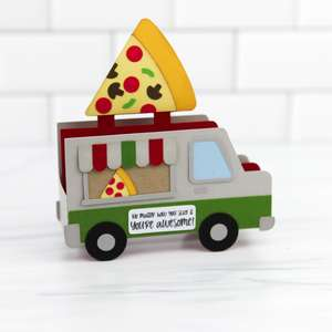5x7 box card pizza truck