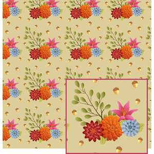 fall flowers pattern