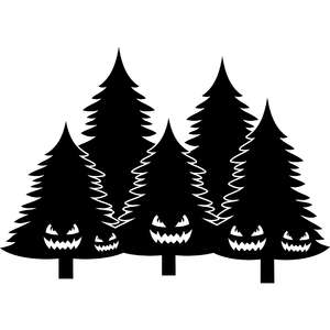 monsters in the pine trees