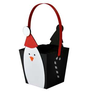 hanging penguin box ornament lantern