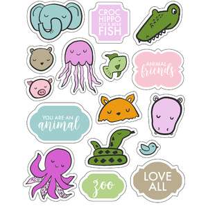 ml animal heads stickers