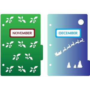 mini 3-ring binder decorative november & december dividers