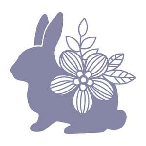 sitting flower bunny