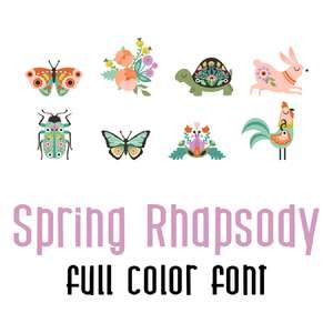 spring rhapsody full color font