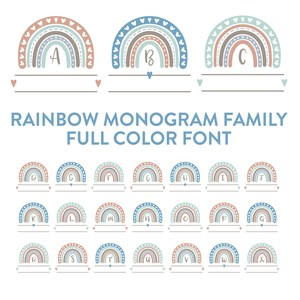 rainbow monogram family full color font