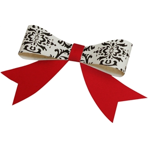 3d bow with curved tails