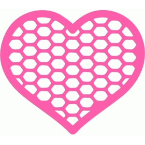 fishnet heart