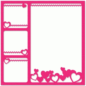 hearts four-photo frame