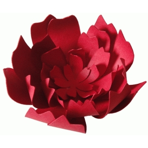 '3d' layered nested flower
