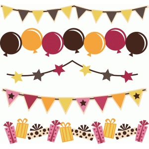 birthday banners set of 5