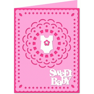 a2 sweet baby girl card