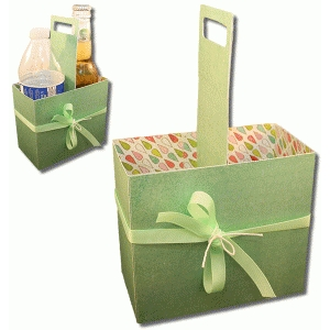 3d two bottle handled drink carrier