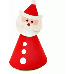 santa claus party hat or table topper