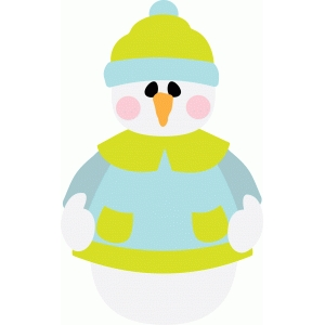 snowman with rosy cheeks