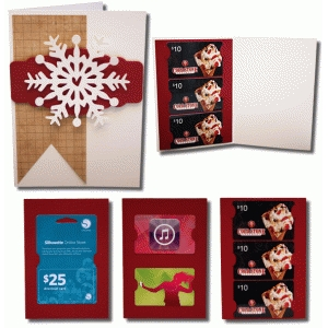 snowflake a7 gift card with gift card inserts