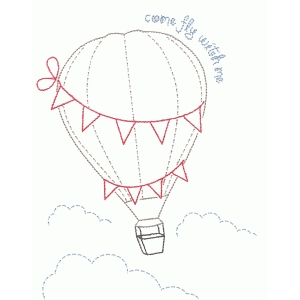 come fly with me embroidery