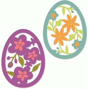 floral easter eggs