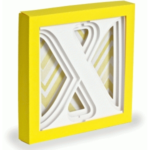 letter x - 3d alphabet shadow box