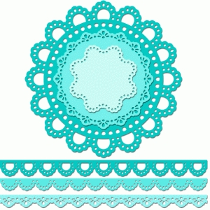 12 inch doily border set eyelet edge