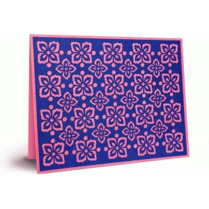 flower pattern card