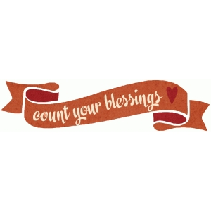 count your blessings banner