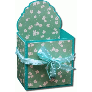 3d round label decorative gift box