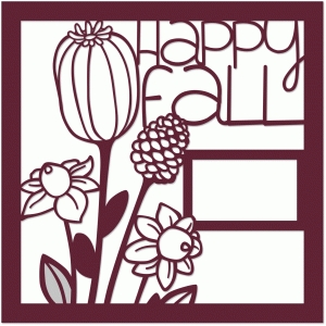 happy fall 12x12 page frame