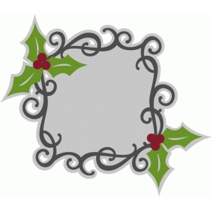 flourish holly frame