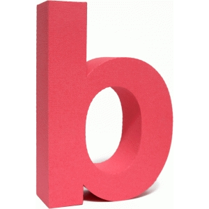 3d lowercase letter block b