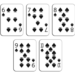 playing cards - spades 6-10
