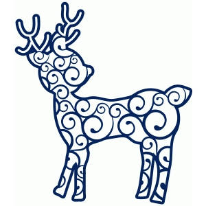 fancy swirl reindeer