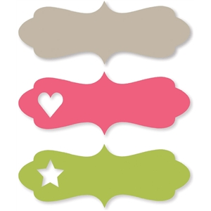 cute heart & star labels