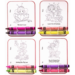 Precious Moments Coloring Cards