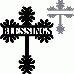 split cross title - blessings