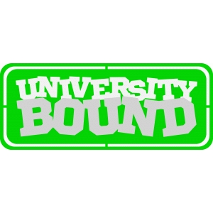 university bound road sign