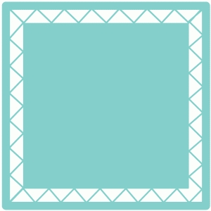 chevron border square mat / background
