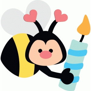 bee with candle