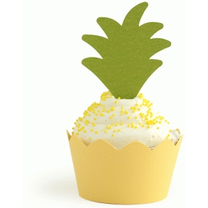 pineapple cupcake wrapper