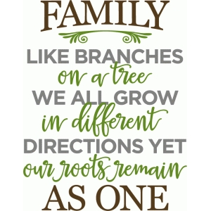 family like branches phrase