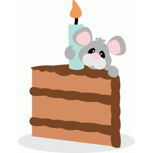 mouse with cake