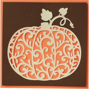 5x5 flourish pumpkin card