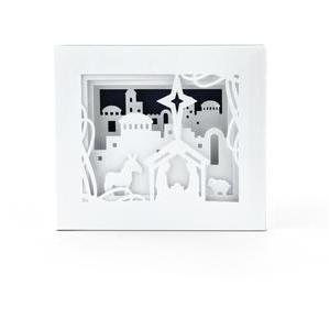 5x7 shadow box card bethlehem nativity