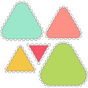 10 piece triangle stamp set