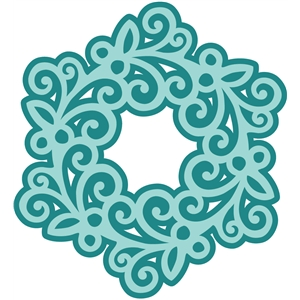 2 piece swirly snowflake