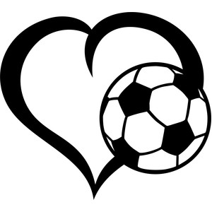 ball soccer heart