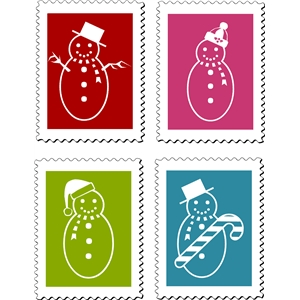 snow man stamp set