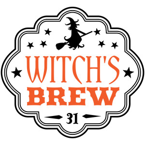 witch's brew halloween apothecary label